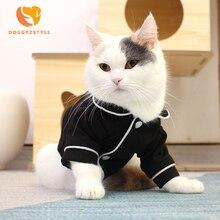 Одежда для домашних животных, котов для маленьких больших собак, кошек, весенне-летние пижамы, рубашка, одежда для домашних животных, рубашки для щенков, жилетка, одежда с рисунком котенка