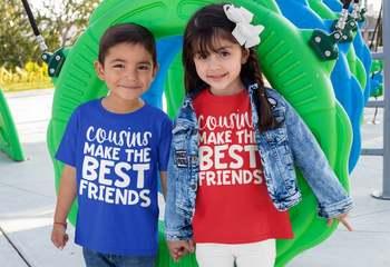 Koszulki z krótkim rękawem dla kuzynów koszulki z krótkim rękawem dla kuzynów koszulki z najlepszymi przyjaciółmi koszulki z krótkim rękawem dla niemowląt koszulki z najlepszymi przyjaciółmi tanie i dobre opinie jiangkao POLIESTER CN (pochodzenie) Na co dzień W stylu rysunkowym REGULAR Z okrągłym kołnierzykiem krótkie Dobrze pasuje do rozmiaru wybierz swój normalny rozmiar