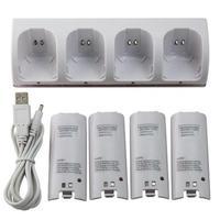 Estación De Carga de soporte para Nintendo Wii U Wiiu, cargador de batería, Mando a distancia
