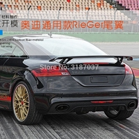 For Audi A3 A4 A5 A6 A7 TT R8 Sedan Spoiler A3 S3 Carbon Fiber Rear Roof Spoiler Wing Trunk Lip Boot Cover Car Styling