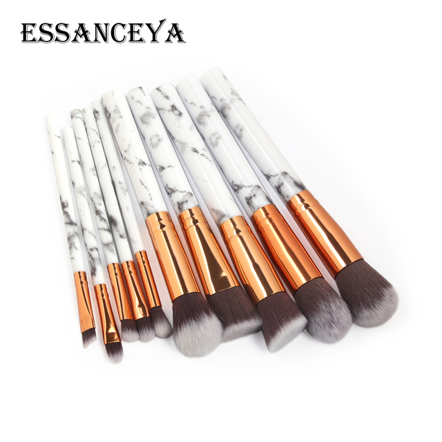 ESSANCEYA 7/10/20Pcs Marble Pattern Makeup Brush for Cosmetic Powder Foundation Eyeshadow Make Up Brushes Set Beauty Tools Kits