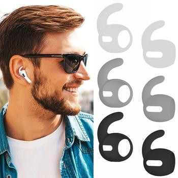 цена на 3 Pair Anti-lost Holder Earphone Stand Strap For Apple Iphone XS Max X XR Airpods 2/3 Pro Wireless Headphone Mount Ear Hook Cap
