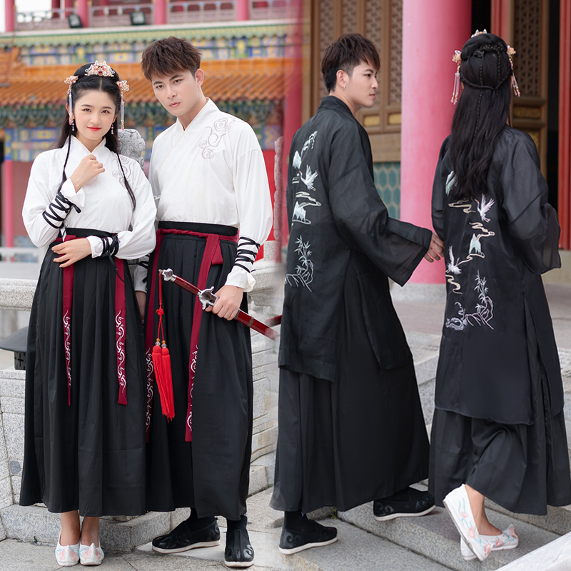 Hanfu Dress For Men/Women Chinese Style Classical Dance Costumes Couple Cosplay Dress Festival Outfit Performance Clothes VO335