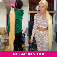 Luvin Straight 8 30 40 Inch Brazilian Remy Hair 613 Blonde 1 3 4 Bundles Long Human Hair Weave Bundles Free Shipping