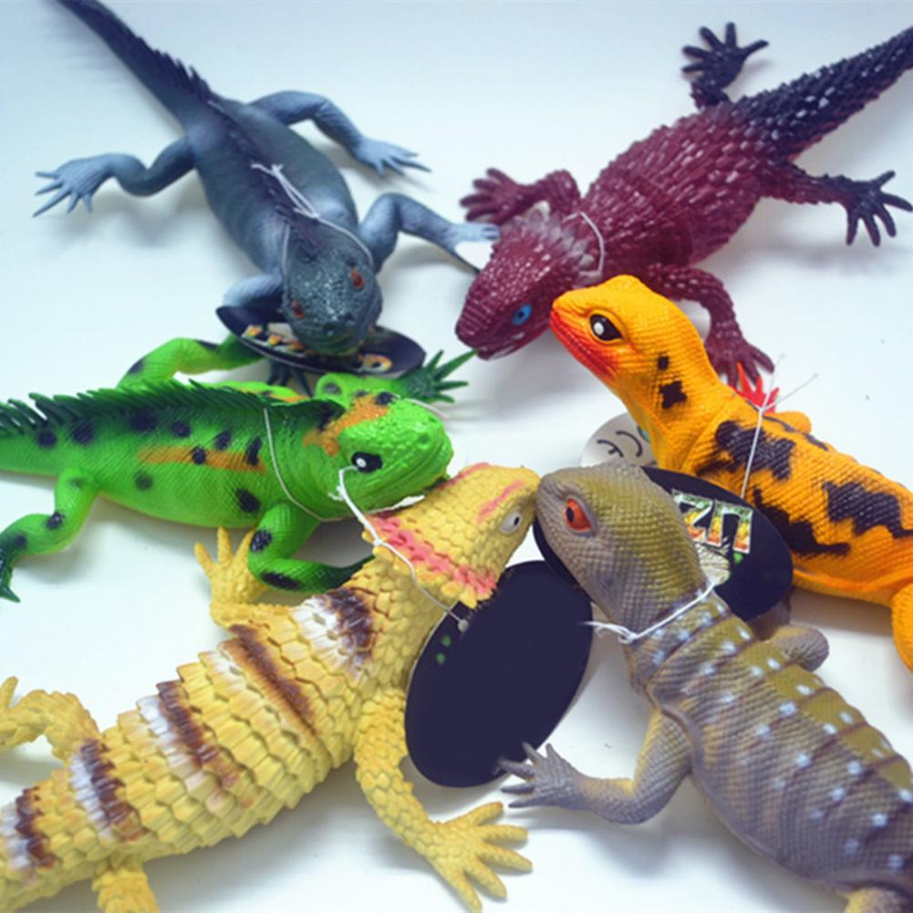 37cm Simulation Lizard PVC Squeaky Animal Model Kids Toy Baby Bedtime Making Sound Realistic Cabrite Educational Toys For Child