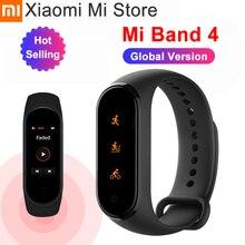 In Magazzino Xiao mi mi fascia 4 SmartBand mi Fascia 4 braccialetto Frequenza cardiaca Fitness tracker Bluetooth 5.0 50M impermeabile