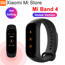 במלאי שיאו mi mi Band 4 SmartBand mi Band 4 צמיד קצב לב כושר tracker Bluetooth 5.0 50M עמיד למים
