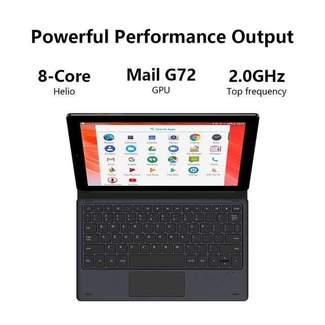 Tablet PC Chuwi - Tela de 10.1 Polegadas - Sistema Operacional Android 10 - 6GB de memoria RAM -  Processador Octa-Core - 128GB Armazenamento Interno -   Suporte 4G  3