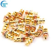 PAPRI 20PCS 24K Pure Brass Gold Plated Turrets Posts Lugs FR Audio HIFI DIY Tube Guitar Amplifier Tag Board