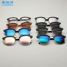Ослепляющие цветные солнцезащитные очки в стиле ретро 3016 светоотражающие