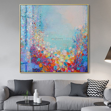 Hand painted abstract canvas painting acrylic wall art palette knife pictures for living room decoration maison decor