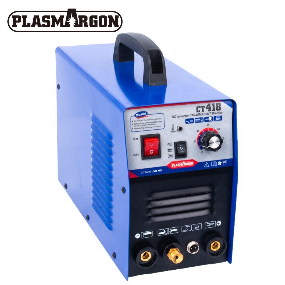 Blauct CT418 3 w 1 palnik plazmowy peruka/spawanie TIG sprzęt do spawania od 1 do 8 mm 230V