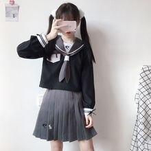 Japanese School Uniforms Necktie JK Suits Skirts Female Dresses Sailor Costumes Cardigans Dress Sweater Clothes for Women