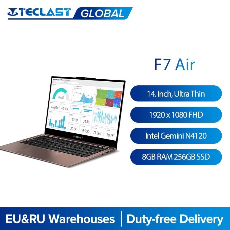 Teclast F7 Air 14'' Ultra Thin Laptop Intel N4120 8GB LPDDR4 256GB SSD Notebook 1920x1080 FHD Windows 10 Computer 180 Rotate pc