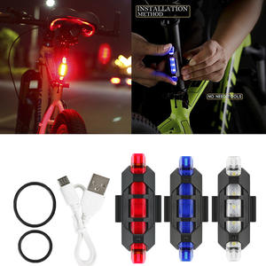Tail-Light-Lamp Bike Bicycle Led Mtb Rear Rechargeable Safety Waterproof New 5 USB