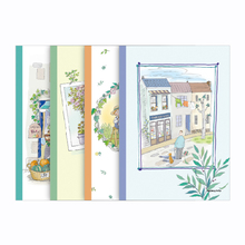4 pieces/lot A5 B5 illustration cover notebook memo pad school use stationery
