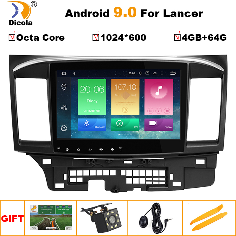 10.1 Android 9 4G+64G Car Radio for Mitsubishi Lancer 2007-2012 4G+WiFi RDS DSP Video Audio Multimedia 2 Din Car Dvd Player image
