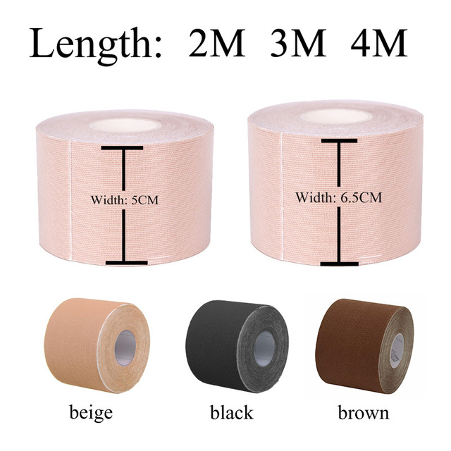 1 Roll 3 Colors Women Self Adhesive Breast Lift Tape Strapless Bandage Backless Sexy Bra Silicone Push Up Lingerie Invisible Bra 2