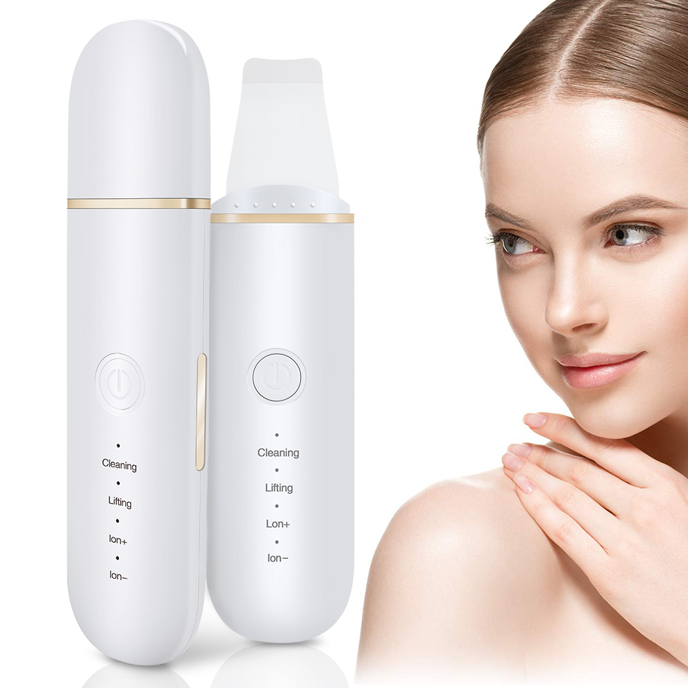 Ultrasonic Skin Scrubber Deep Face Cleaning Ultrasonic Face Peel Facial Scrubber Whitening Lifting Dirt Wrinkles Spots Reduce
