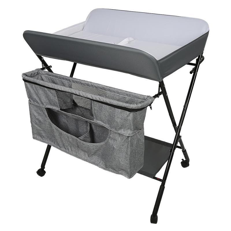 Baby Changing Table Set Portable Rolling Crib Travel Bed Infant Toddler Cradle For Newborn Baby Bed Bassinet Bumper 1 Set HWC