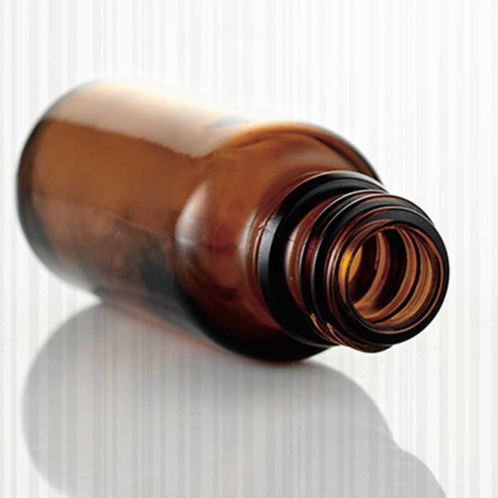 JETTING-1pc 5/10/15/20/30/50/100ml Amber Glass płynny odczynnik pipeta butelka zakraplacz do oczu Drop aromaterapia