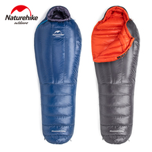 Naturehike Ultralight Waterproof Sleeping Bag Mummy Hiking Sleeping Bag Goose Down Sleeping Bag Backpack Camping Sleeping Bag naturehike naturehike ultralight mummy sleeping bag camping goose down waterproof adult portable outdoor hiking cotton nh17g350