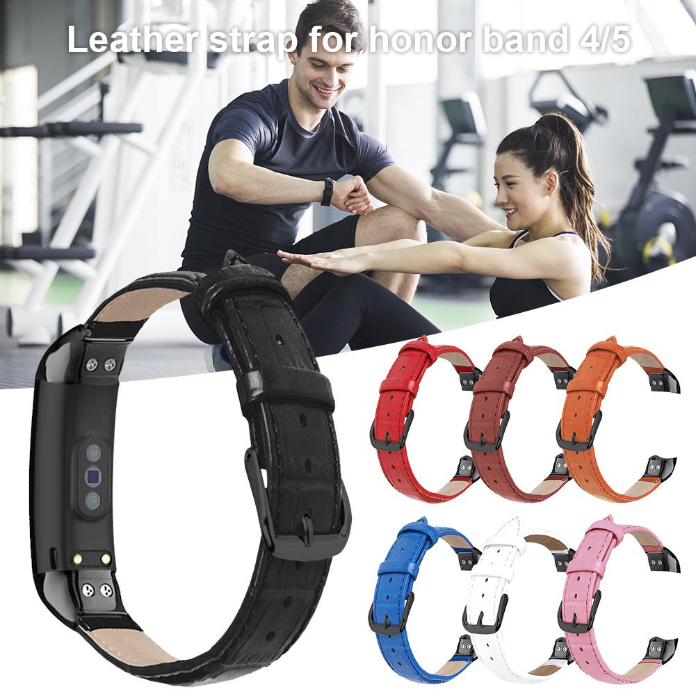 Smart Bracelet Strap For Huawei <font><b>Honor</b></font> <font><b>4</b></font>/5/<font><b>NFC</b></font> Double-sided Suede Leather Wristband For <font><b>Honor</b></font> <font><b>Band</b></font> <font><b>4</b></font> Genuine Leather Watch <font><b>Band</b></font> image