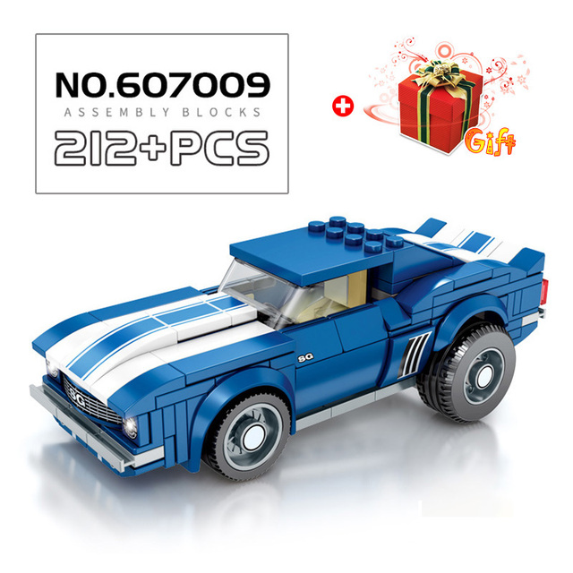 179-216Pcs Sports Car Model Building Blocks Toys For Boys Compatible With Duplos City Children DIY Creative Racing Toy Kids Gift