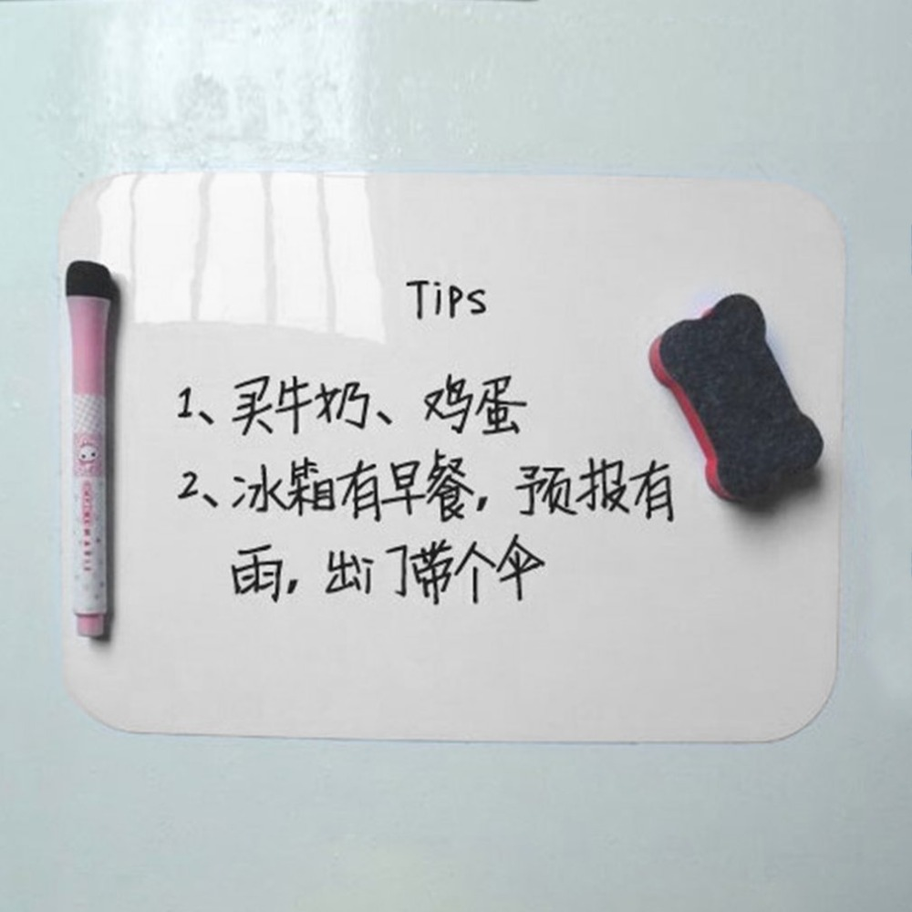 21*15cm Waterproof Whiteboard Writing Board Magnetic Fridge Magnets Erasable Message Board Memo Pad Drawing Board Home Office