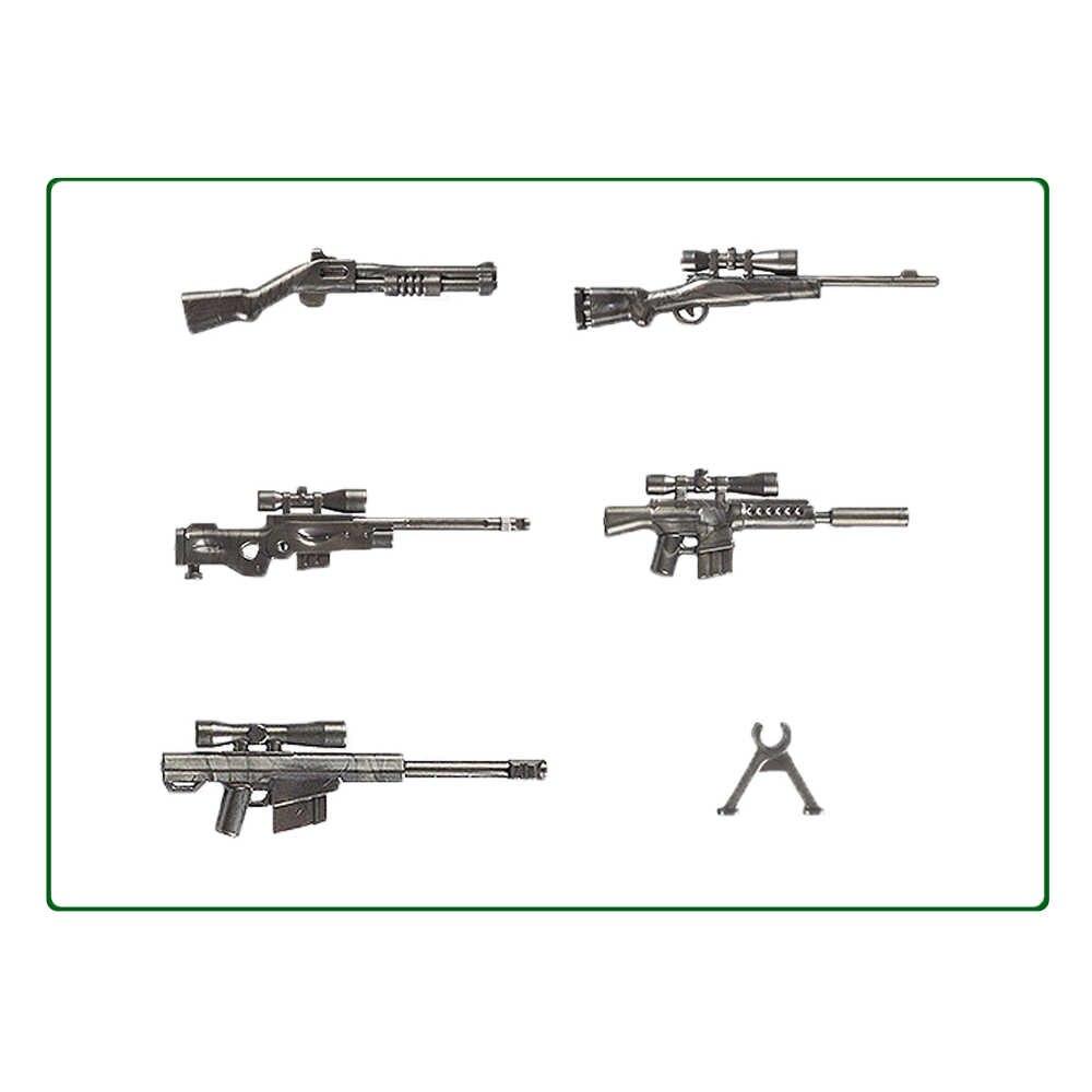 WW2 Paquete de bloques de construcción con armas militares, accesorios del ejército MOC, lotes de figuras de soldados, pistola, policía, equipo SWAT, perros, juguetes para niños