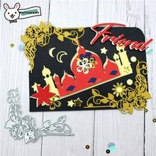Naifumodo Cutting Dies Metal Rose Border Die Scrapbooking Album Card Making Embossing Stencil Diecuts Decoration
