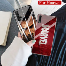 Para Huawei Honor 10 Marvel vengadores caso de Nova 3i 4e 5 Honor 9x pro 10 20i 8x max Note10 jugar V10 V20 Magic2 DIY caso(China)