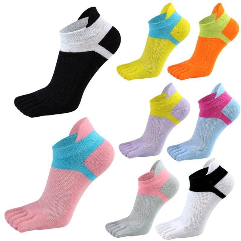 Women Split Socks Low Cut Ankle Show Toe Socks Breathable Five Finger Feet Wearing Socks