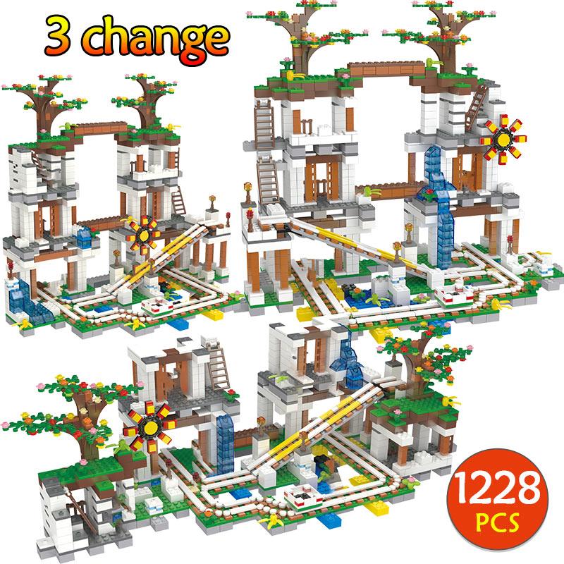 1228 pièces Briques Compatibles Mon Monde la Mine Grotte Chiffres Briques Blocs De Construction Enfants Cadeaux De Noël Jouets