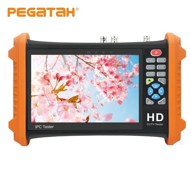7 אינץ AHD מצלמה בודק 8MP TVI CVI 5MP AHD 2MP SDI טלוויזיה במעגל סגור מצלמה בודק צג תמיכה UTP שיחת OSD תפריט