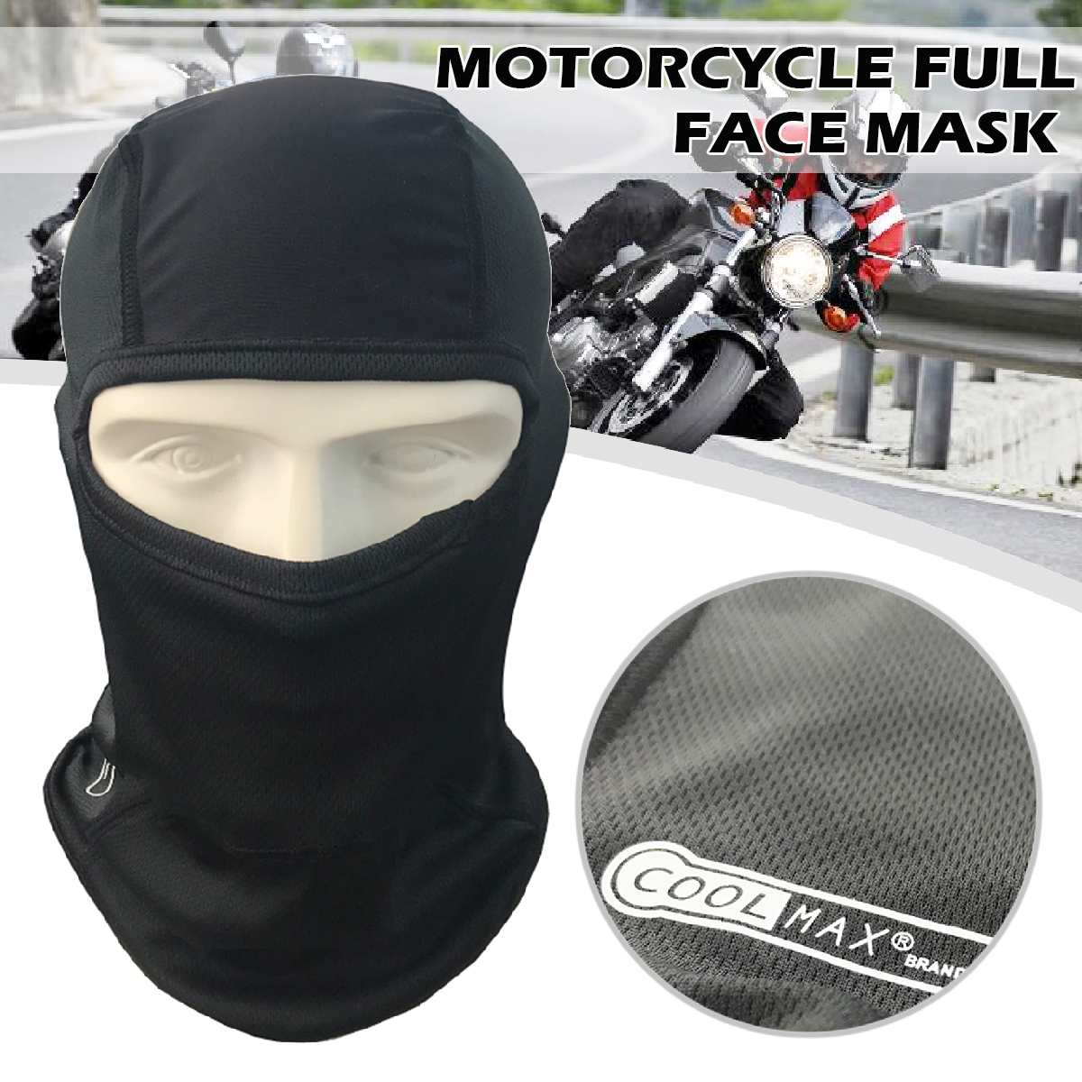 Full Face Mask Summer Motorcycle Cycling Outdoor Riding