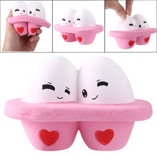 Kawaii Cartoon Cute Egg Squishy Slow Rising Cream Scented Stress Reliever Toy feel super smooth W304(China)