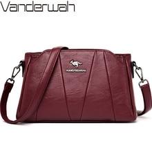 Crossbody Bags For Women 2019 Sac a Main Soft Leather Shoulder Messenger Bags Female Vintage Handbag High Quality Bolsa Feminina