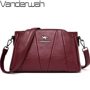 Image 1 - Crossbody Bags For Women 2019 Sac a Main Soft Leather Shoulder Messenger Bags Female Vintage Handbag High Quality Bolsa Feminina