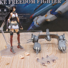 цена на Anime Kantai Collection Nagato PVC Action Figure Collectible Model doll toy 14cm figma 232#