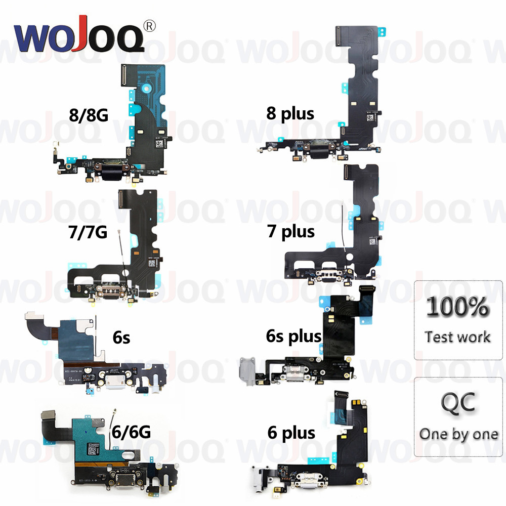 High Quality Charging Flex Cable For IPhone 6 6s 7 8 Plus USB Charger Port Dock Connector Mic Flex Cable For Iphone6 Replacement