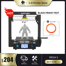 ANYCUBIC Mega S 3D Printer i3 Mega Upgraded Version Plus Size TFT Touch Screen Ultrabase Desktop 3d Printer Kit drukarka 3d