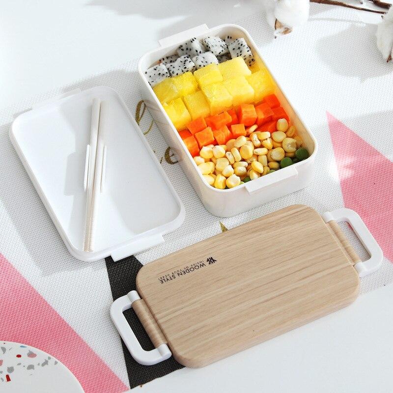PP Пластик здоровый Материал Коробки для обедов столовая посуда Еда контейнер для хранения коробка для завтрака Пикник Кемпинг чехол посуда