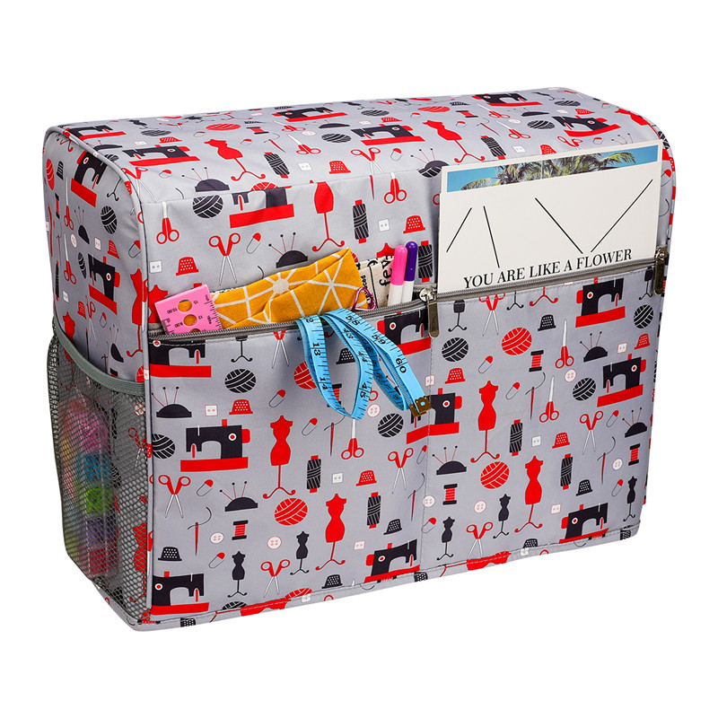 Sewing Machine Cover Protective Dust Case Bag With Storage Pockets For Needles & Accessories For Household Women Gift