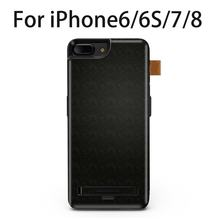 Protective power Case battery charger case for iphone 8 7 6 6s plus slim Power Bank with Hiding Bracket battery charging cover(China)