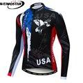 Weimostar Италия Великобритания США Мужская велосипедная Джерси с длинным рукавом Pro Team Bike рубашка горный Майо Ciclismo быстросохнущая велосипедна...