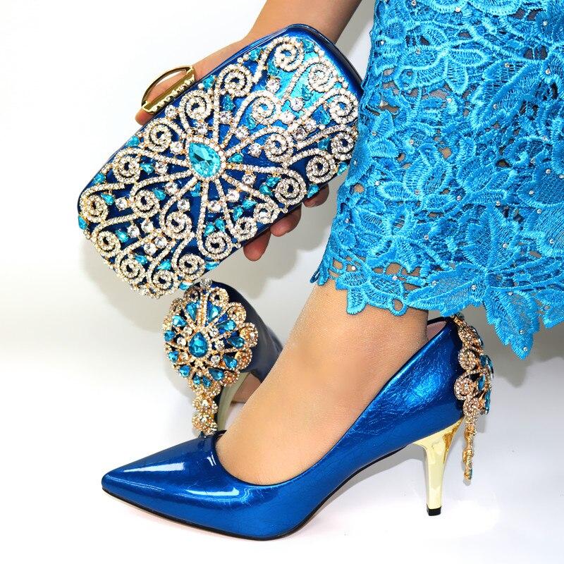 Горячая Распродажа; женские туфли лодочки винного цвета; комплект из сумочки с украшением в виде кристаллов; модельные туфли в африканском ... - 6