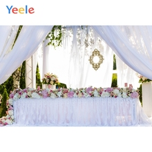 Yeele Wedding Ceremony Party 3D Flowers Curtain Photography Backdrops Personalized Photographic Backgrounds For Photo Studio