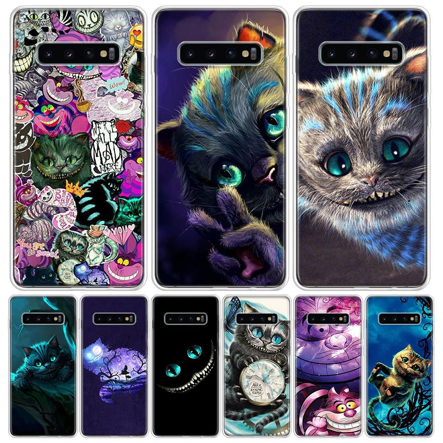 Alice In Wonderland Cheshire Cat Cover Phone Case For Samsung Galaxy S10 S20 Ultra Note 10 9 8 S9 S8 J4 J6 J8 + Lite Plus Pro S7