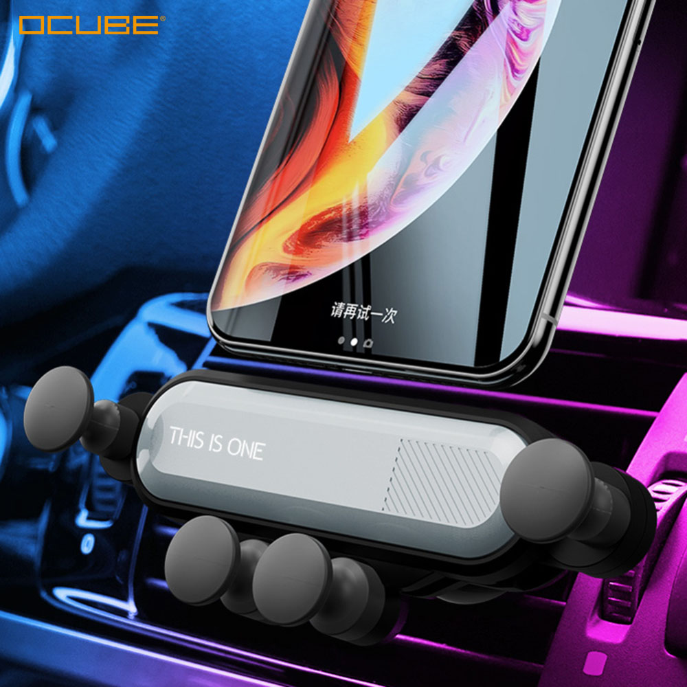 Gravité Voiture support pour téléphone portable portable pour Iphone 11 Soporte Mobile téléphone Smartphone Voiture accessoires